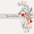 Floral background with beautiful handdrawn flowers Stock Photography