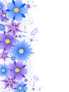 Floral background with blue flowers Royalty Free Stock Images