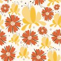Floral background in bright colors seamless Stock Photo