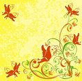 Floral background with butterfly. Vector Royalty Free Stock Images