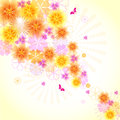 Floral background can used as a wallpaper or card Royalty Free Stock Images