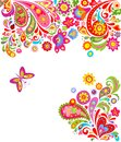 Floral background with colorful abstract flowers Royalty Free Stock Photo