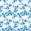Floral background. Elegance blue seamless pattern with flower peony Royalty Free Stock Photo