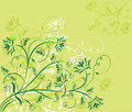 Floral background, elements for design, vector Royalty Free Stock Images