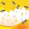 Floral background with honey Royalty Free Stock Image