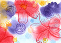Floral background image hand drawn pattern illustration Royalty Free Stock Image