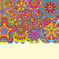 Floral background made of many mandalas. Good for weddings, invitation cards, birthdays, etc. Creative hand drawn elements. Vector Royalty Free Stock Photo