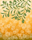 Floral background with an olive branch Royalty Free Stock Photography