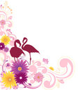 Floral background with ornament Royalty Free Stock Image
