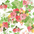 Floral Background Poppy And Co...