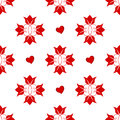 Floral Background With Red Tul...