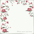Floral background retro with roses Stock Photography
