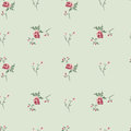 Floral background retro seamless with beautiful roses Stock Photo