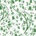 Floral background seamless with ornaments Stock Photography