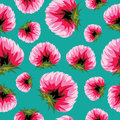 Floral background seamless pattern clover flowers turquoise Stock Photo