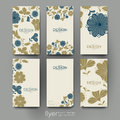 Floral background vector brochure template. Flyer Layout Royalty Free Stock Photo