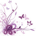 Floral background, vector illustration Stock Photo