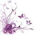 Floral Background, Vector Illu...