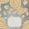 Floral backgrounds with vintage roses. EPS 8 Stock Image