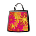 Floral bag Royalty Free Stock Image