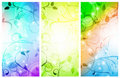 Floral banner set Royalty Free Stock Photos