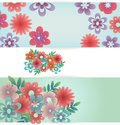 Floral banners collction with pattern Stock Photos