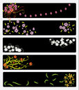 Floral banners elegant flower nice graphic for weddings mother s or valentine s day Royalty Free Stock Images