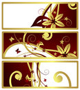 Floral banners, vector Royalty Free Stock Image