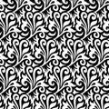 Floral Black Wallpaper