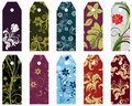 Floral bookmark Stock Images