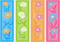 Floral bookmarks, vector Stock Photography