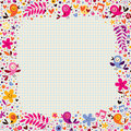 Floral border with birds Royalty Free Stock Photo