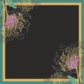 Floral border decor Royalty Free Stock Image