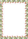 Floral border simple illustration red and green Royalty Free Stock Photo