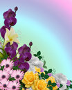 Floral border Springtime colors Royalty Free Stock Photo