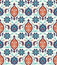 Floral border for your design. Traditional Turkish � Ottoman seamless ornament. Iznik.
