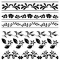 Floral borders - black tracery - vector Royalty Free Stock Photos