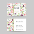 Floral business name card design template Royalty Free Stock Photo