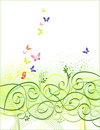 Floral  butterfly background Stock Photo