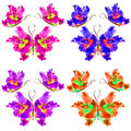 Floral butterfly made of lily petals leaves and flowers Royalty Free Stock Photo