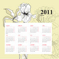 Floral calendar for 2011 Stock Photography