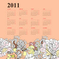 Floral calendar for 2011 Stock Images
