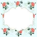 Floral card for any occasion decorative ornamental border Stock Images