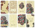 Floral card set Stock Photo