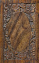 Floral Carved Wood Frame Stock Photography