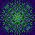 Floral centered ornament purple green violet blurred