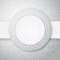 Floral circle frame. Royalty Free Stock Photo