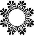 Floral circle pattern Stock Photos