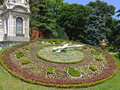 Floral clock big in istanbul turkey Royalty Free Stock Photo
