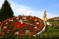 Floral clock of the city of zacatlan Royalty Free Stock Photo
